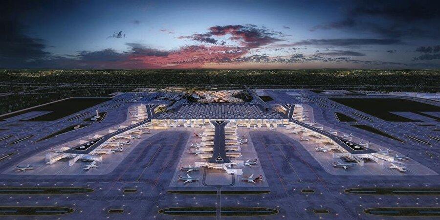 Havalimanı tamamlandığında dünyanın açık ara en büyüğü olacak.