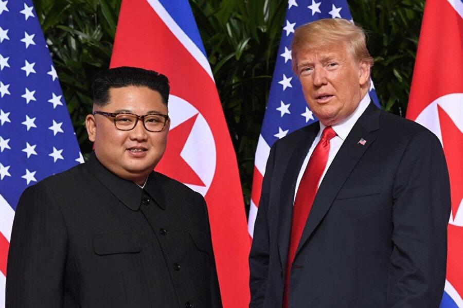 Kuzey Kore'nin Donald Trump, Kim Jong Un zirvesinden sonra balistik füzeler üretiği iddia edilmişti.