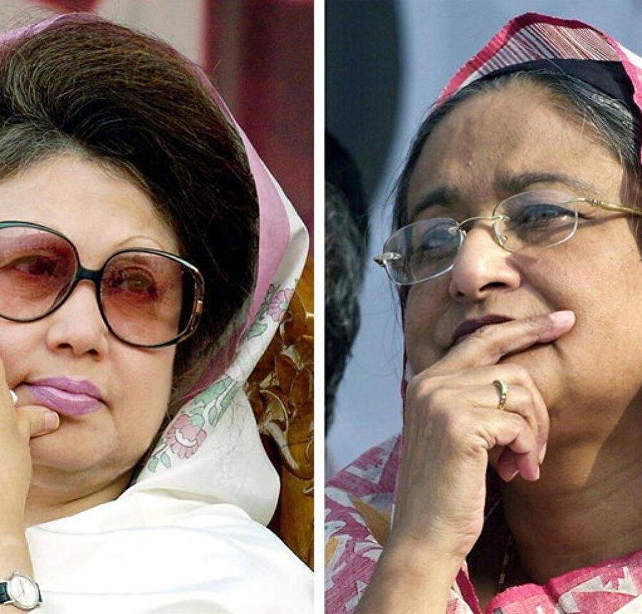 Halide Ziya (solda) ile Şeyh Hasina arasında ölümcül bir rekabet yaşanıyor.