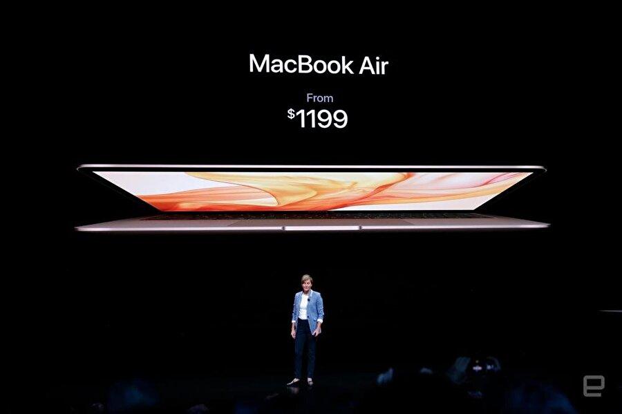 MacBook Air'in giriş modelinin fiyatı 1199 dolar. Fotoğraf: Engadget.