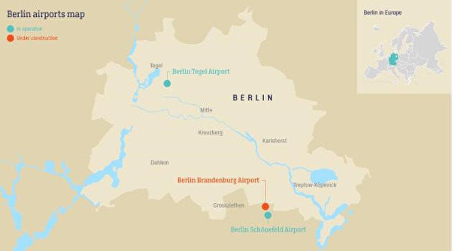 BER açılana dek, Berlinliler ve şehrin ziyaretçileri diğer iki havalimanı, kentin dışında bulunan Schönefeld'i ve kentin içindeki Tegel Havalimanı'nı kullanmaya devam edecekler.