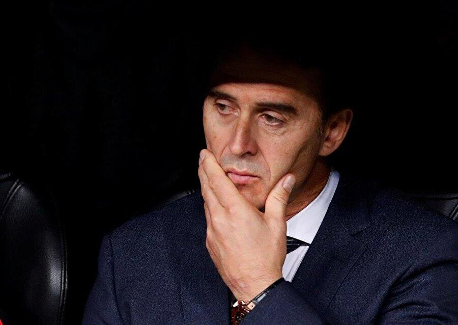 İspanyol teknik adamın El Clasico boyunca çaresiz görüntüsü dikkat çekti.