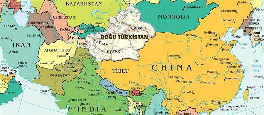 10 milyon Müslüman Türk'ün yaşadığı Doğu Türkistan'da nüfusun %45'i Müslüman Uygurlardan oluşuyor.