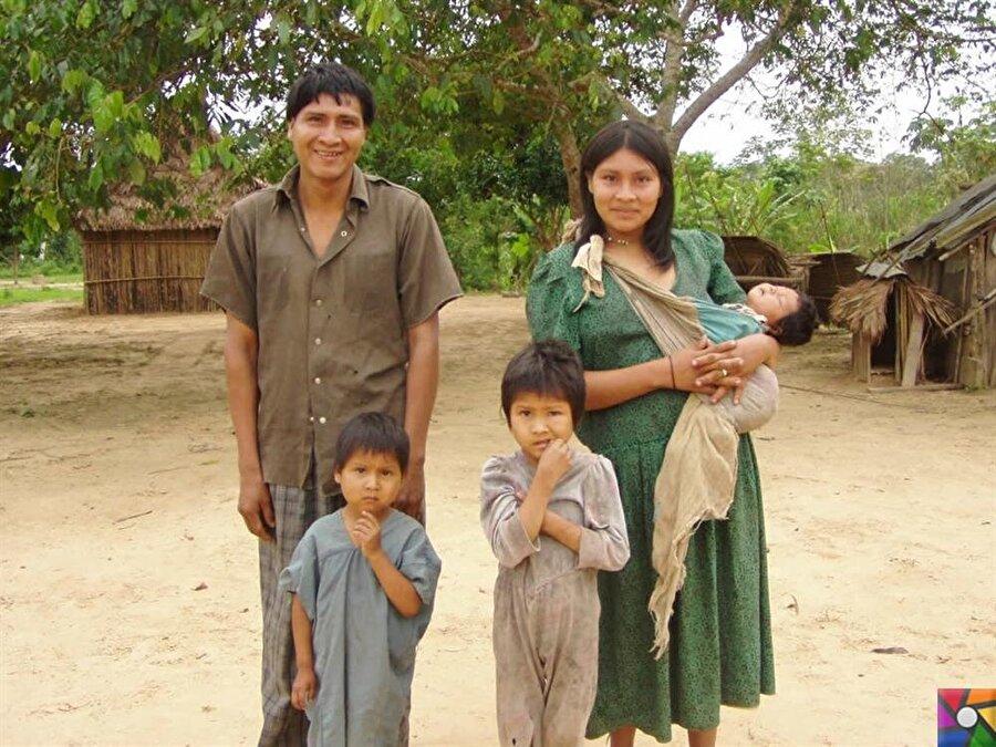 Dünyanın en sağlıklı kalplerine sahip, Çimaneli bir aile.