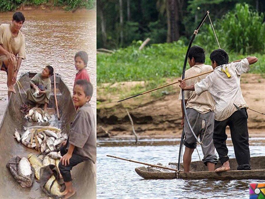 Manique nehrinin kenarında yaşayan Çimaneler, balıkçılık alanında da üst düzey becerilere sahipler.