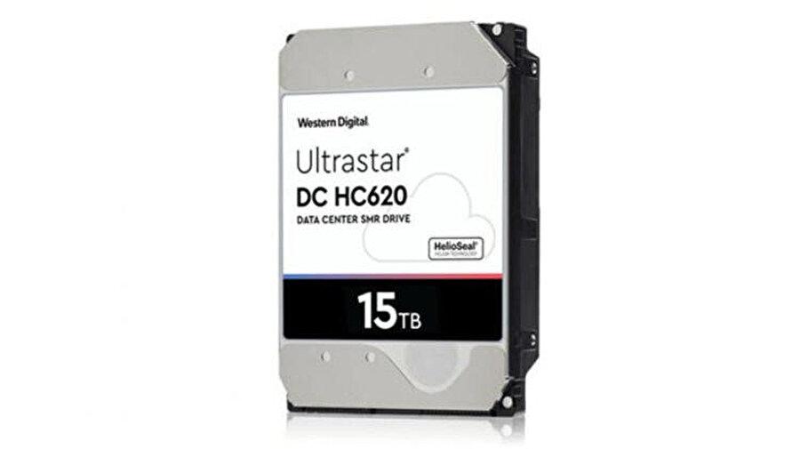 Western Digital'ın ürettiği 15 TB'lık hard disk.
