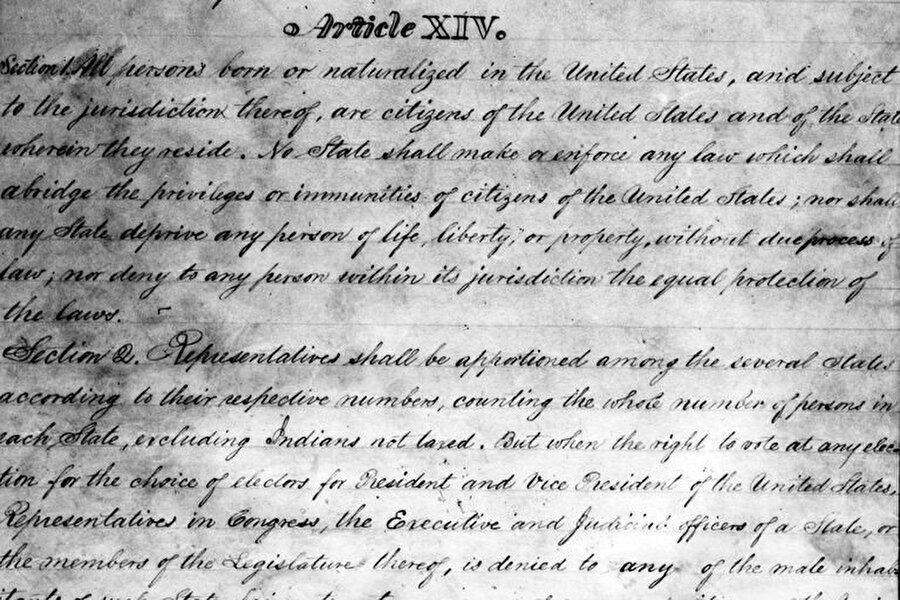 ABD Anayasası 14. madde metni