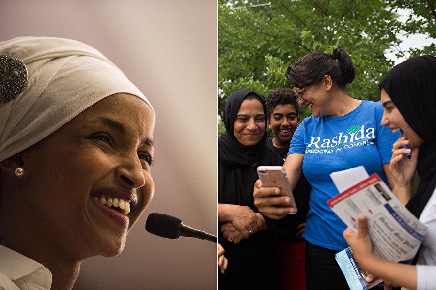 ABD'de Michigan eyaletinden seçimlere giren Filistin asıllı Tlaib ve Minnesota eyaletinden seçimlere giren Somali asıllı Omar yarışı kazanarak Temsilciler Meclisine giren ilk Müslüman kadın üyeler oldu.