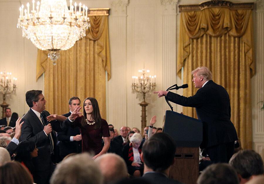 ABD Başkanı Trump, CNN muhabiriyle bir tartışma yaşadı.