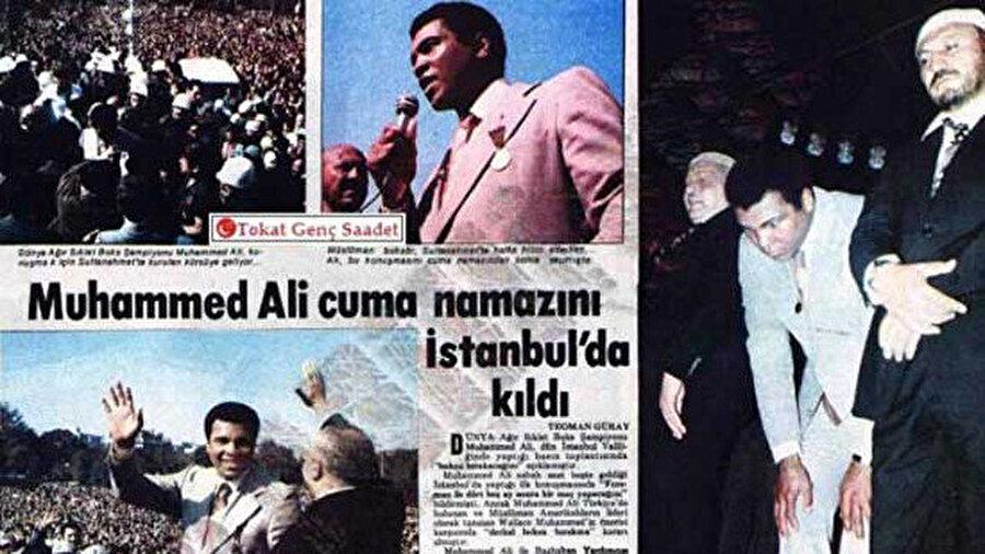 Muhammed Ali'nin ziyareti, Türk basınında da geniş yankı uyandırmıştı.