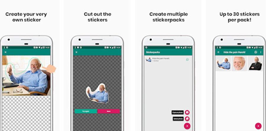 WhatsApp'a uygun çıkartma oluşturmak için Sticker Studio en başarılı uygulamalardan biri.