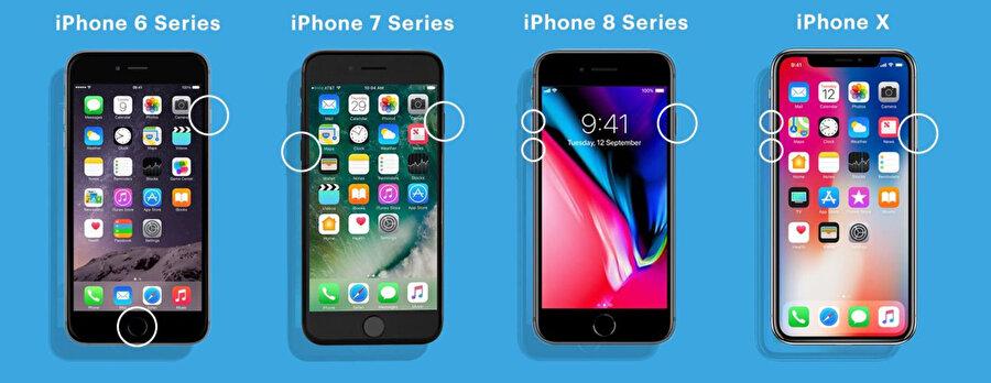 iPhone'lardaki hard reset işlemi aslında modellere bağlı olarak farklılık gösteriyor.