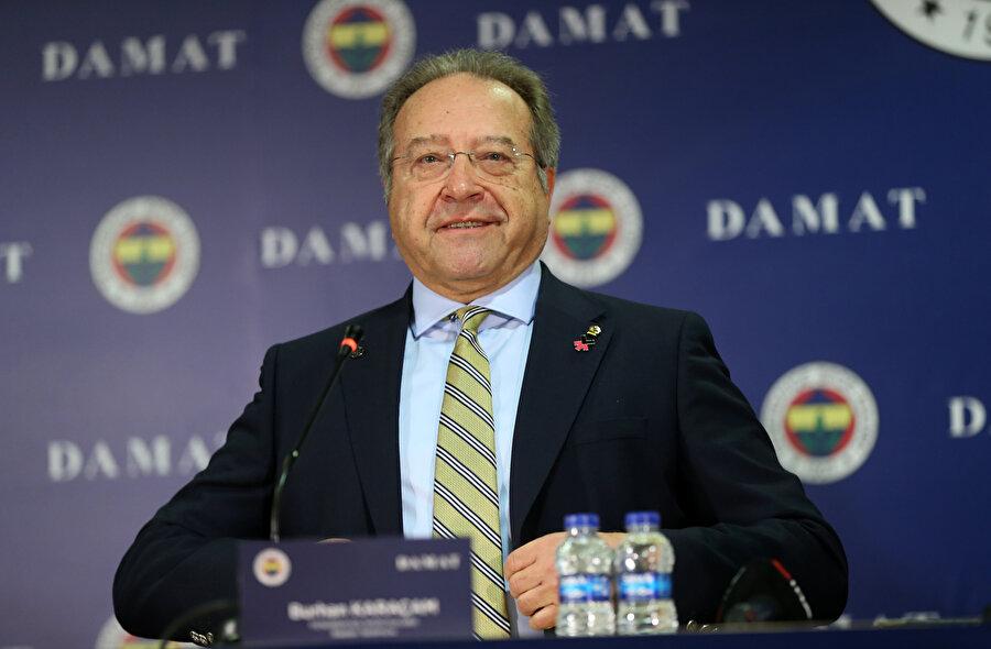 Fenerbahçe Başkan Yardımcısı Burhan Karaçam, imza töreninde hazır bulundu.
