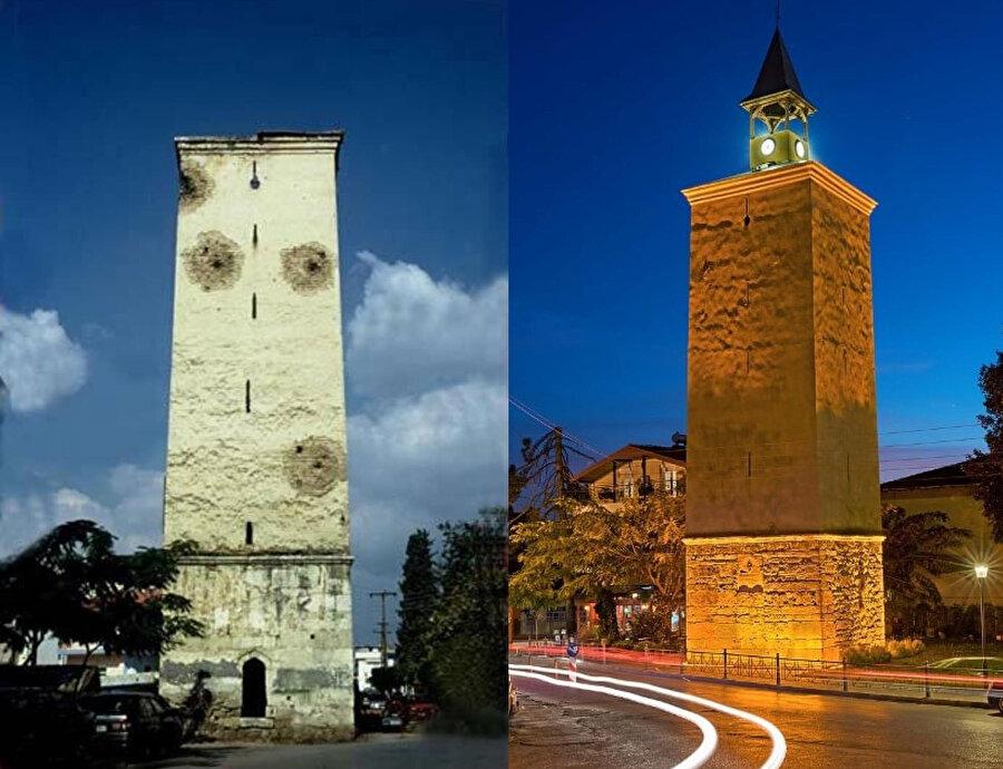 Evrenosoğulları tarafından yaptırılan saat kulesi de restorasyon kapsamına alınan yapılardan oldu.