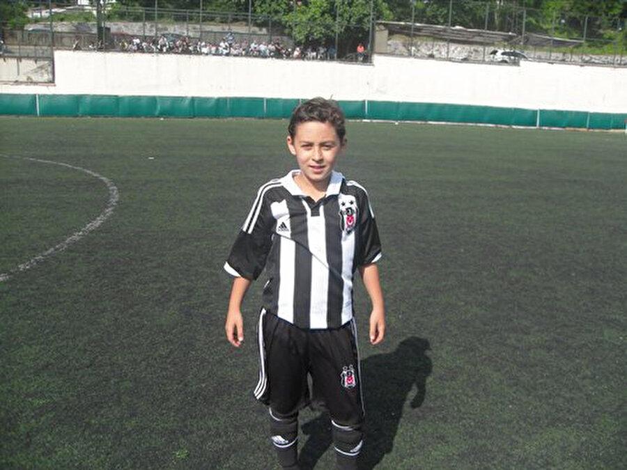 Kartal Kayra Yılmaz'ın Beşiktaş altyapısına yeni girdiği dönemden bir kare.