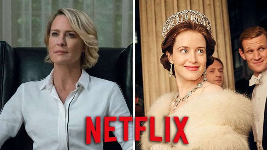 Netflix'in kadın kahramanlarından, Claire Underwood(House of Cards) ve Kraliçe Elizabeth(The Crown)