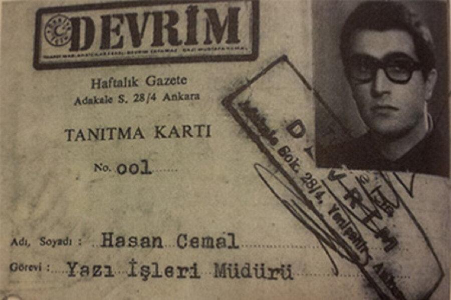 Hasan Cemal Devrim dergisinin Yazı İşleri Müdürlüğü görevini yürütüyordu.