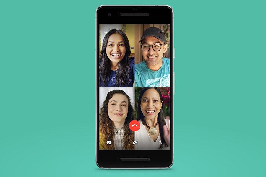 WhatsApp'ta gruplar özelliğine dahil edilecek olan görüntülü arma asistemi, rehberde kayıtlı olan ve WhatsApp grubunda yer alan kişilerin tek tuşla görüntülü aramaya geçmesini sağlayacak.