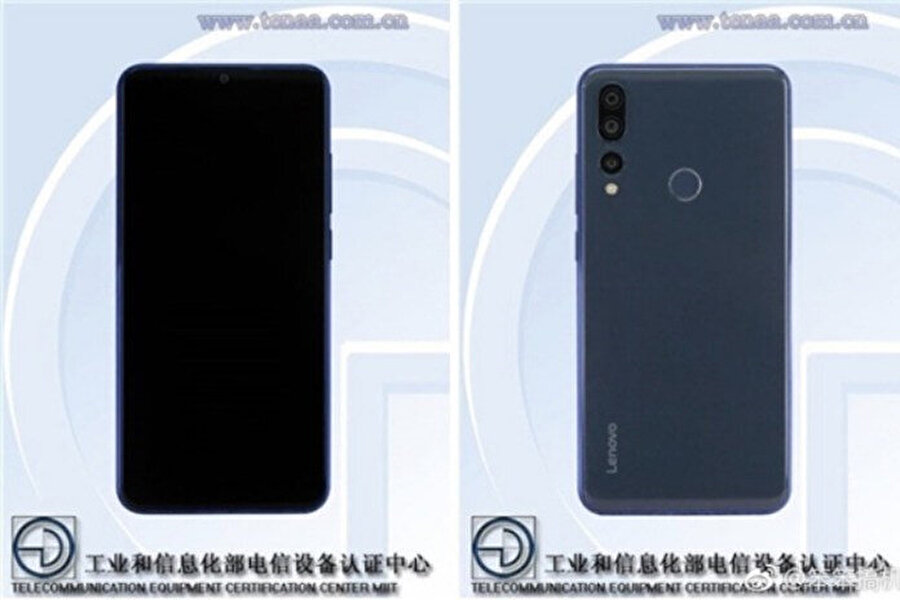 Sızan görüntülerde Lenovo'nun yeni serisi Z5S'in üç arka kameraya sahip olduğu net olarak görünüyor.