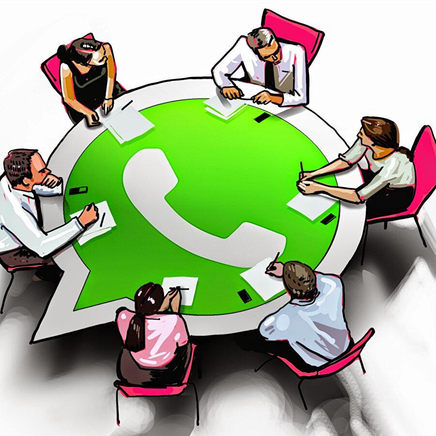 WhatsApp'ın yönetim kadrosunu gösteren illustrasyon.