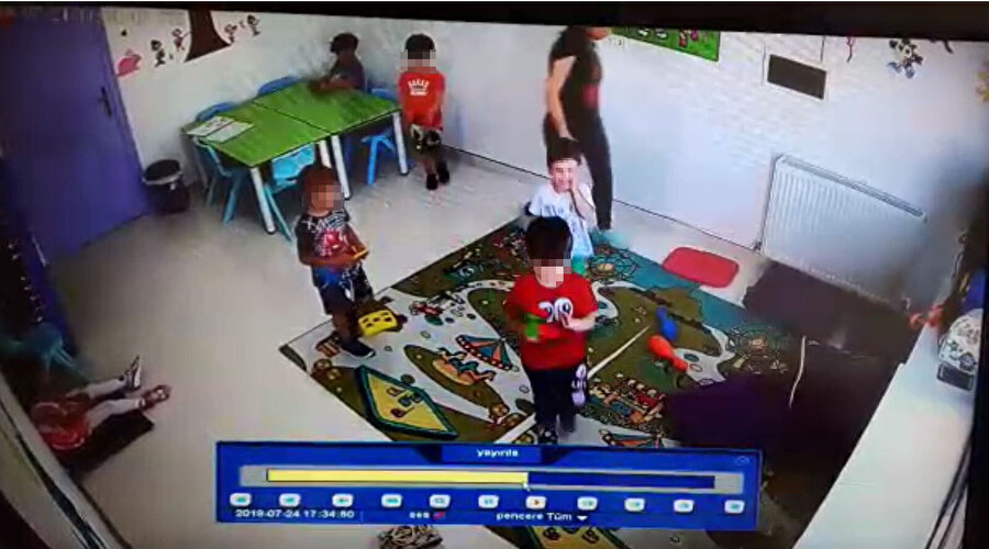Öğretmenin öğrenciye şiddeti kameraya yansımıştı.