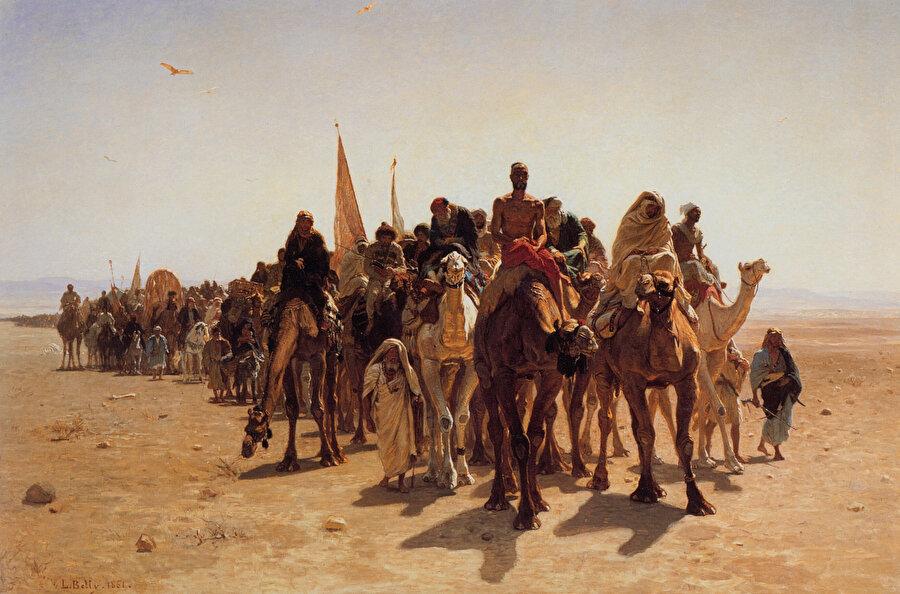 """""""Hacılar Mekke'ye gidiyor"""" tablosu Belly'nin en tanınmış eseridir."""
