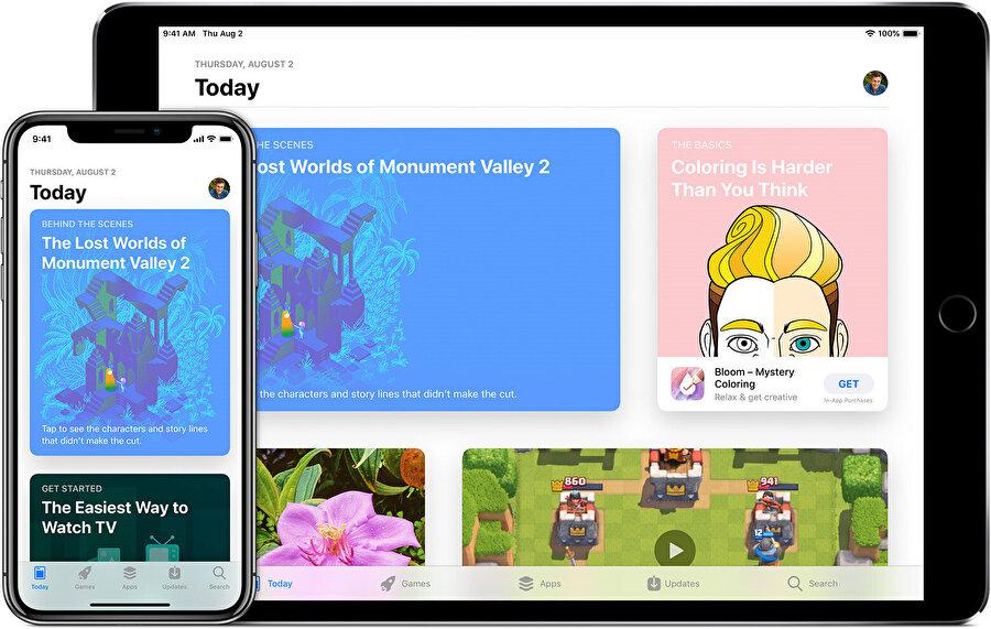 Apple, en büyük kazancını hizmetlerine borçlu. Bunlar arasında uygulamalar ilk sırada yer alıyor. Tabii iCloud gelirleri de var.