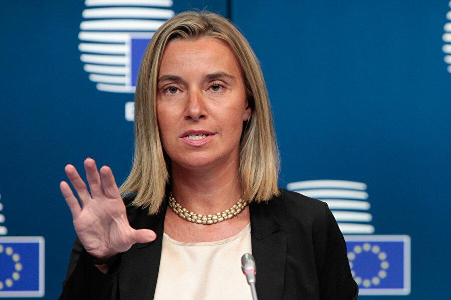 Avrupa Birliği (AB) Dış İlişkiler ve Güvenlik Politikası Yüksek Temsilcisi Federica Mogherini.