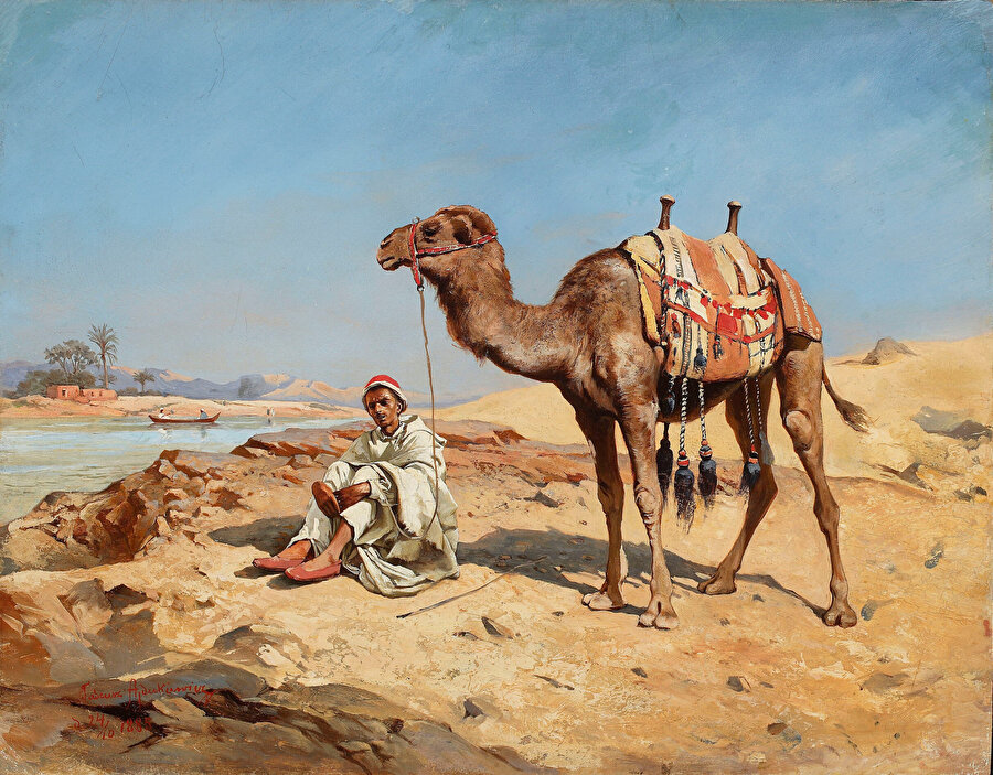 """Tadeusz Ajdukiewicz'in """"Çöldeki Arap"""" adlı tablosu."""