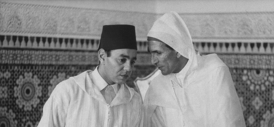 Kral Hasan ve General Muhammed Ufkir.