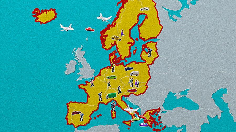 Schengen ülkeleri ortak Schengen Information System-SIS adı verilen bir veri tabanından yararlanırlar. Bu veri bankasında, Schengen ülkelerine girmesi gereken kişilerle ilgili bilgiler başta olmak üzere çeşitli bilgiler yer alır ve üye ülkelerin yetkili makamlarının kullanımına açıktır.