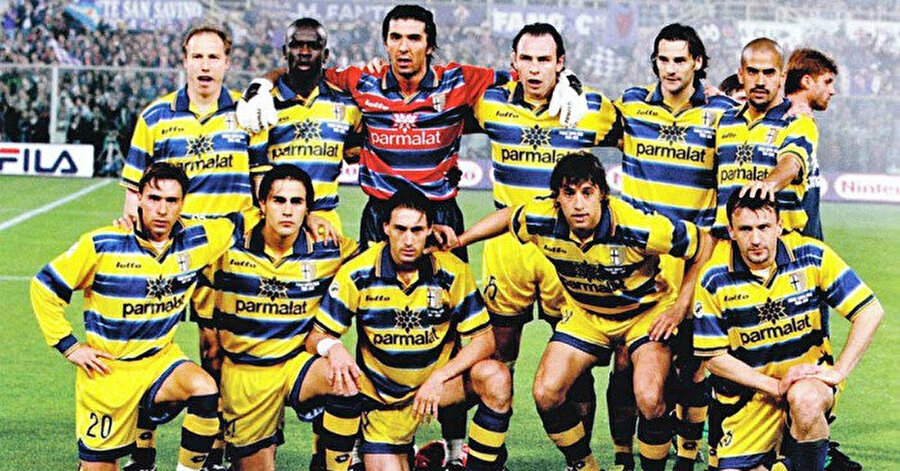 Parma'nın 1999 yılına damgasına vuran kadrosunda yok yok...