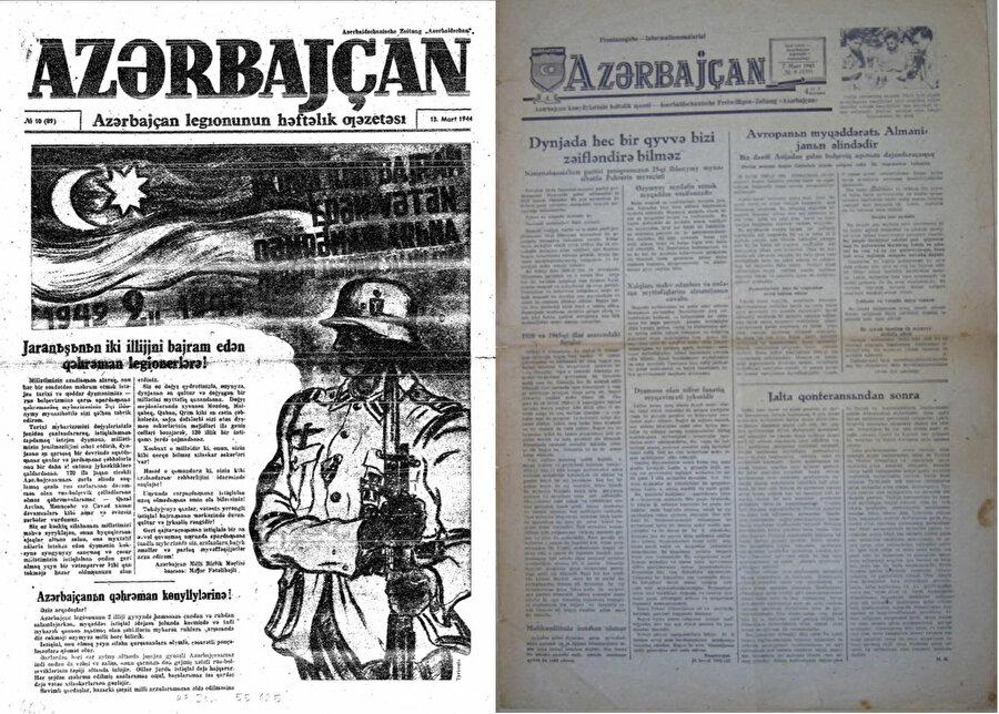 Berlin'deki Azerbaycan Milli Birlik Komitesi tarafından her hafta basılan ''Azerbaycan'' gazetesi Azerbaycan Lejyonu askerlerine dağıtılıyordu.