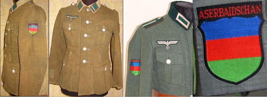 Azerbaycan Lejyonu askerlerinin üniformaları.