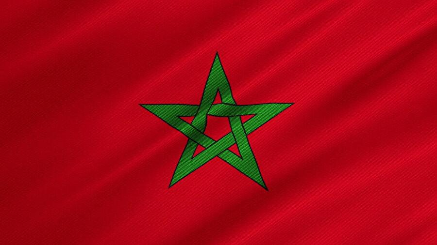 Fas'ın 1915'te kabul edilen bayrağı.