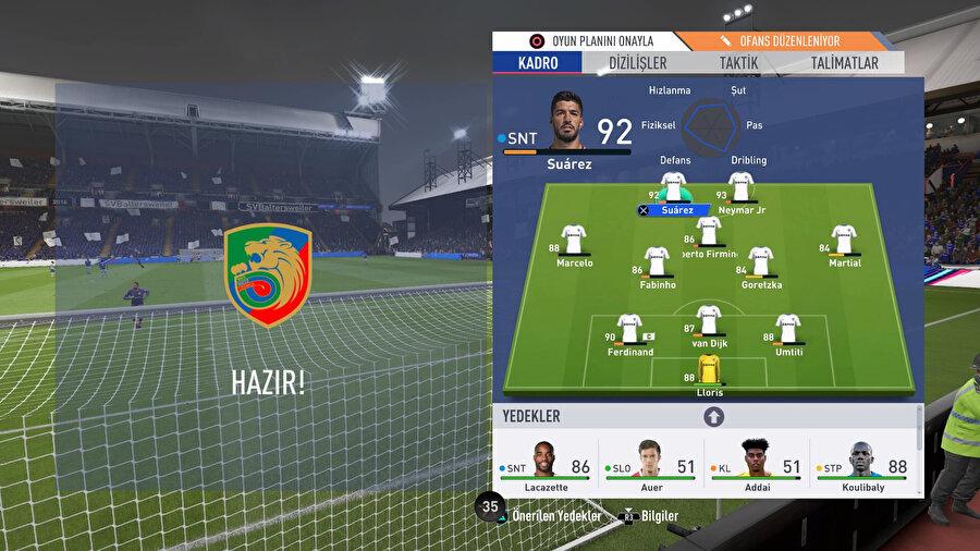 FIFA 19'da taktiksel çalışmalar oyundaki akışı bir anda değiştirebiliyor.