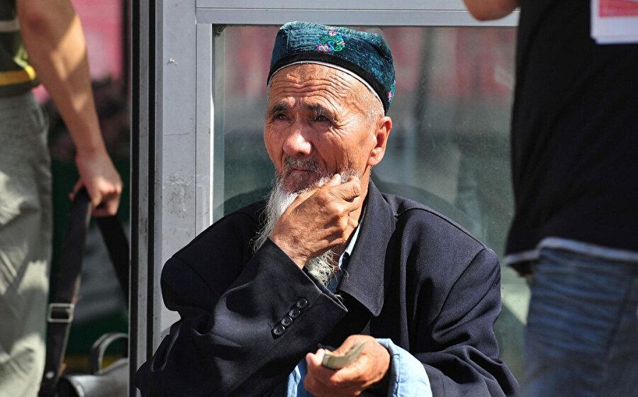 Doğu Türkistan'da yaşayan yaşlı bir Uygur Türkü.