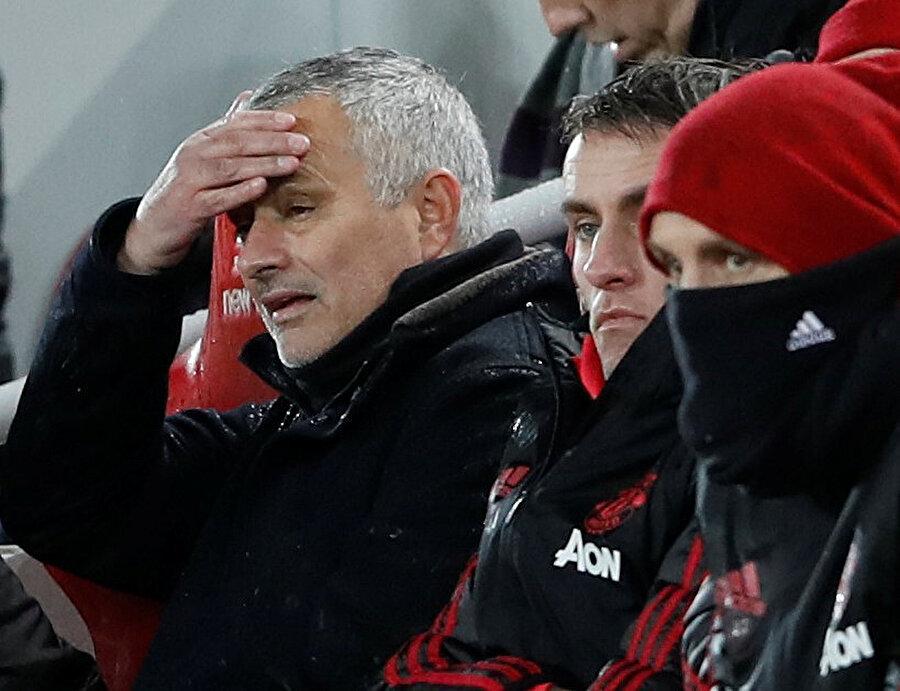 Jose Mourinho'nun skorun 3-1'e gelmesine verdiği tepki.