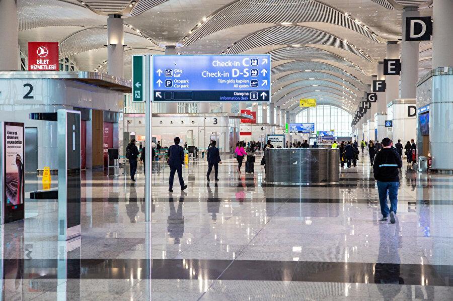 Terminal içi ulaşımdan memnun olanların oranı %88 olarak açıklandı.