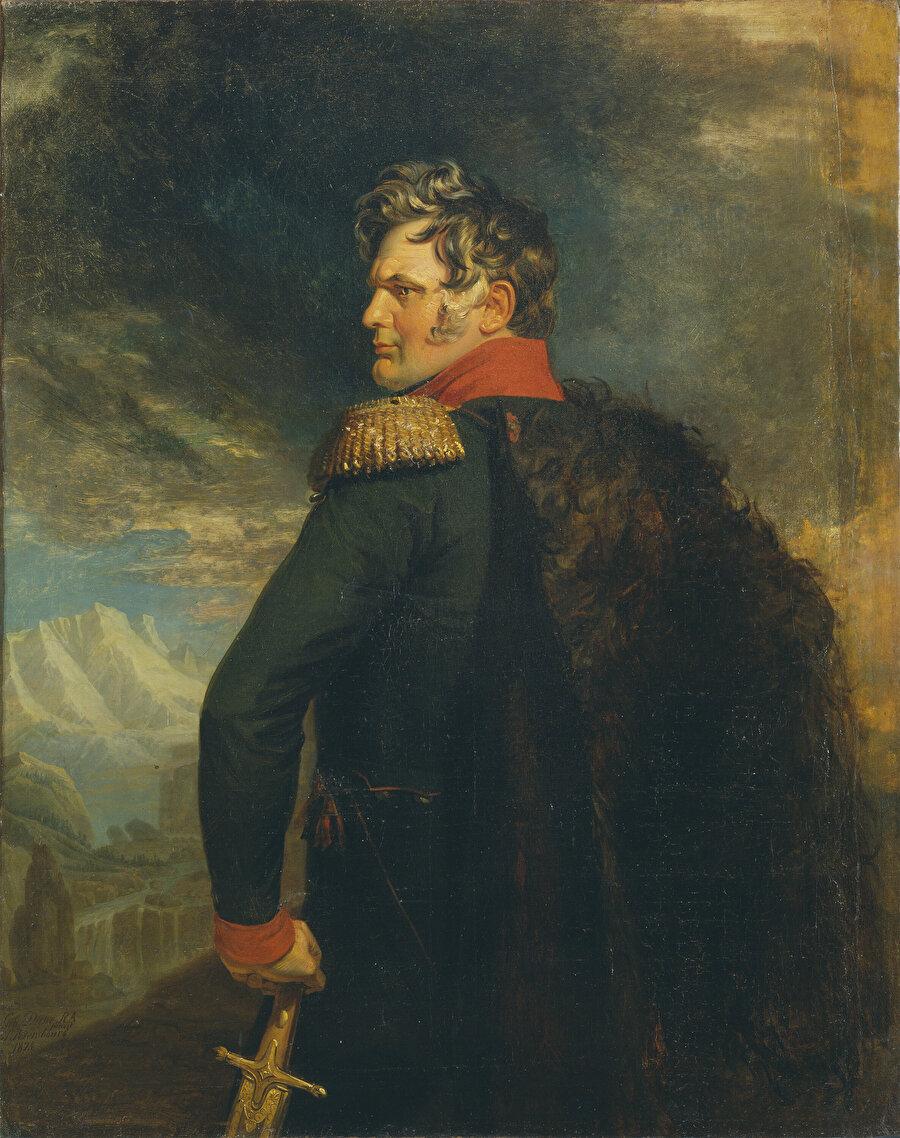 İngiliz ressam George Dawe tarafından 1825 yılında çizilen Aleksey Yermolov portresi.