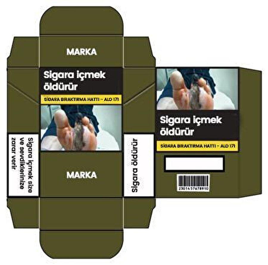 Tek tip paket uygulanan ülkelerde genellikle yeşilin bir tonu olan Pantone 448C rengi kullanılıyor. Binlerce sigara içen kişinin katıldığı bir anketle belirlenen renk dünyanın en çirkin rengi olarak da kabul ediliyor.