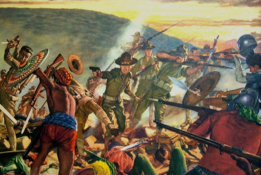 Emperyalist güçlerin Moro'da düzenlediği saldırı ve katliamlar, Batı'da adeta kahramanlık destanı gibi sunulur.
