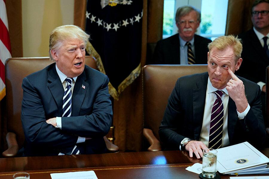 Savunma Bakan Yardımcısı Patrick Shanahan, Başkan Trump'la bir araya gelmişti.