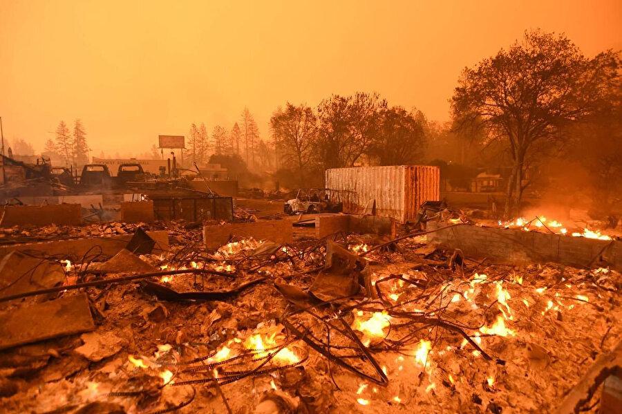 Eyaletin kuzeyindeki Paradise kasabasında başlayan orman yangınları yaklaşık 14 bin ev, 514 iş yeri ve 4 bin 265 binayı yok etti.