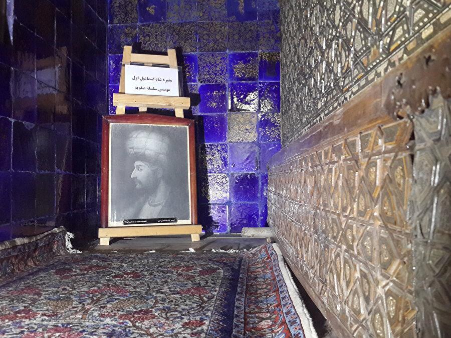 Şah İsmail'in Erdebil Tekkesi'nde bulunan sandukası. (Fotoğraf: Yusuf Sami Kamadan)