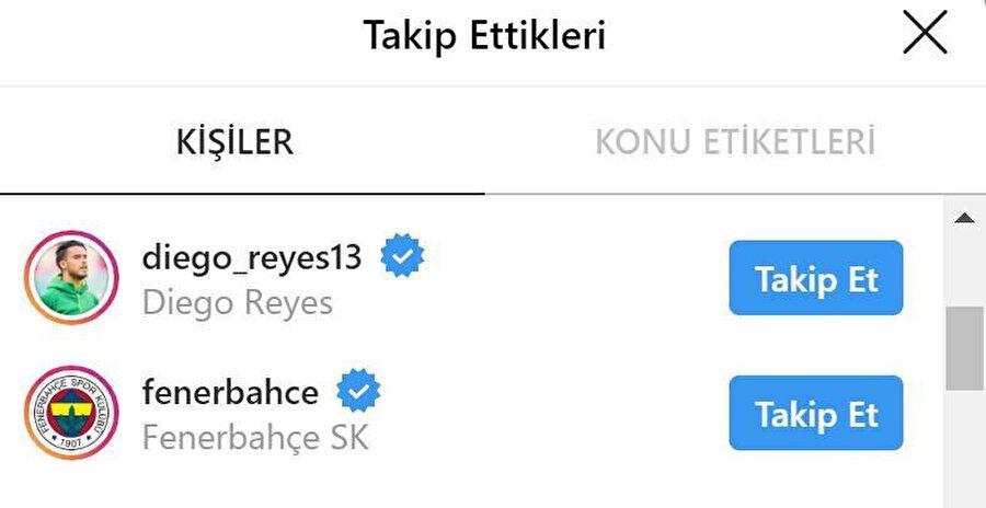 Elis'in, Reyes ve Fenerbahçe'yi takibe aldığı görüldü.