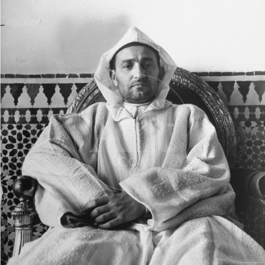 Modern Fas'ın kurucusu Kral Beşinci Muhammed (1906-1961).