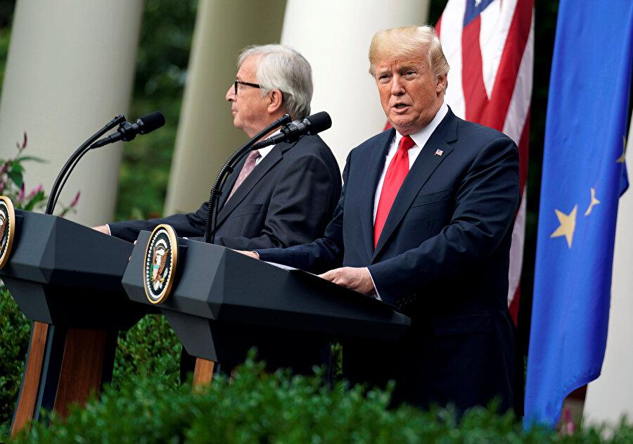 Donald Trump ve Avrupa Komisyonu Başkanı Jean-Claude Juncker, Washington'daki Beyaz Saray'da bir araya gelmişti.