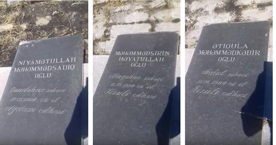 Bakü'nün Hırdalan mezarlığında bulunan bazı Afgan mücahidlerin mezar taşları bakımsızlık yüzünden yıkılmaya yüz tutmuş.