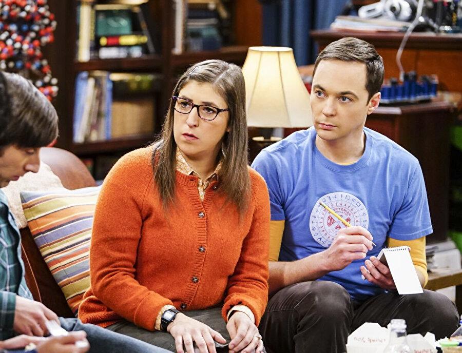 The Big Bang Theory dizisinden bir kare.
